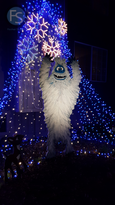christmas lights cambria pines lodge abominable snowman 2015